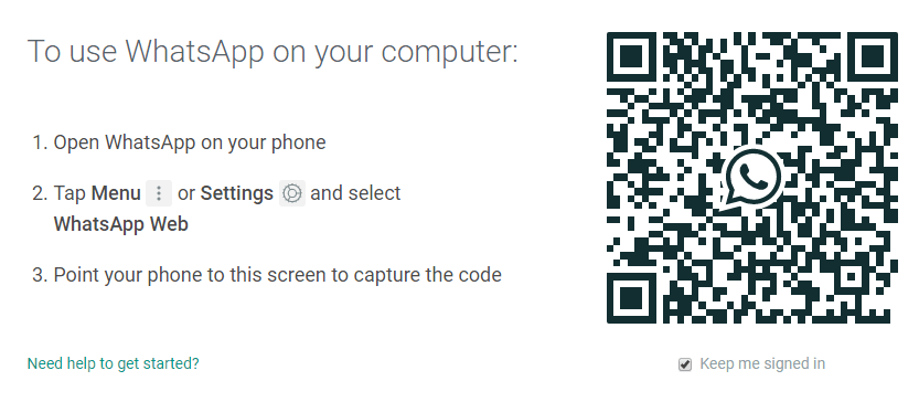 whatsapp bar code scanner