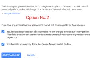 option delete