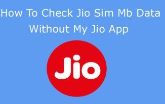 Jio Sim Me Kitne MB Data Hai Bina My Jio App Ke Kaise Jaane