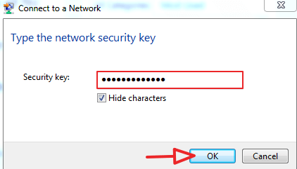 enter password and click on ok