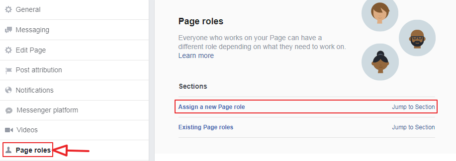 page role >> assign a new page role