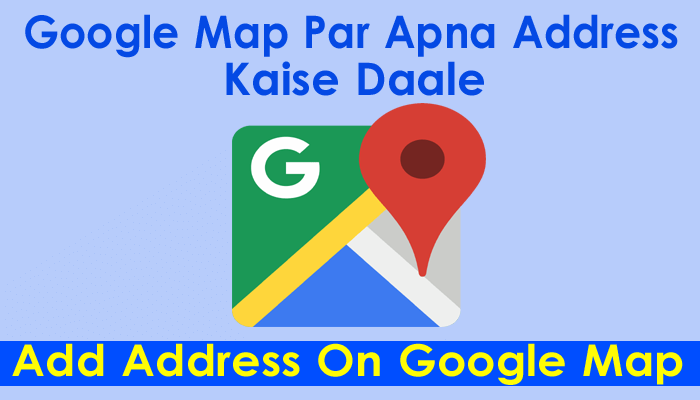 how to add address on google map