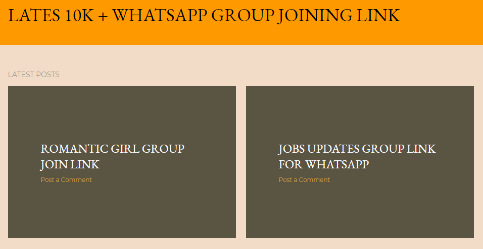 whatsapp group joining links